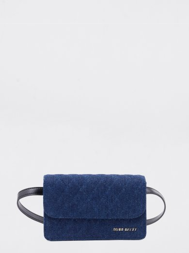 QUILTED DENIM BELT BAG