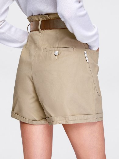 SAND BERMUDA SHORTS WITH BELT