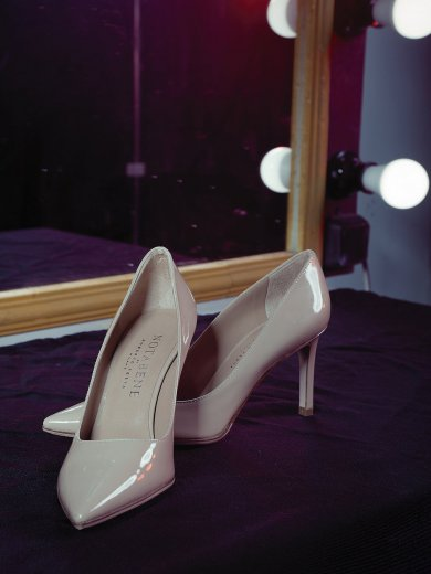 CAROLINA NUDE PATENT SHOES