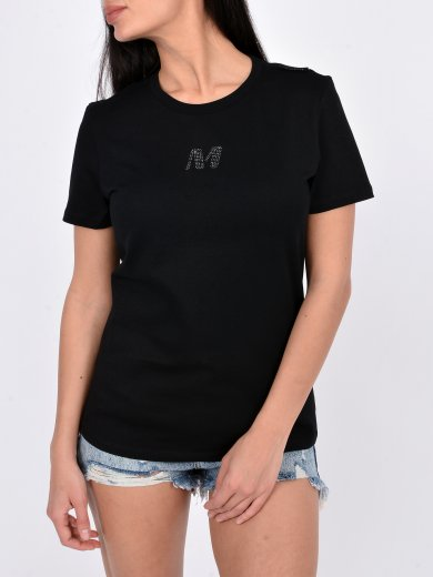 BLACK T-SHIRT WITH M