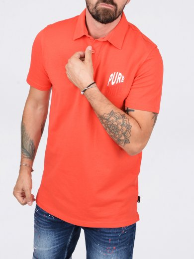 WAVE LOGO POLO RED