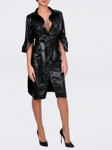 NICOLE LEATHER DRESS