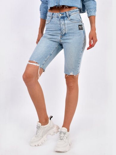 DENIM MIDI-SHORTS