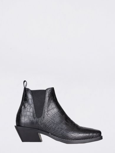 SALLY COCCO BABY NERO MID ANKLE BOOTS