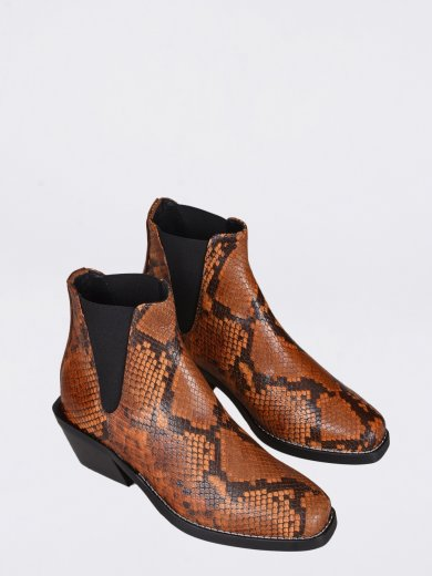 SALLY SNAKE LUX MID ANKLE BOOTS