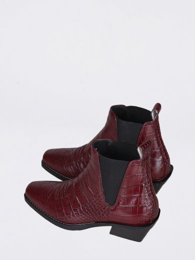 SALLY COCCO BABY BORDO MID ANKLE BOOTS