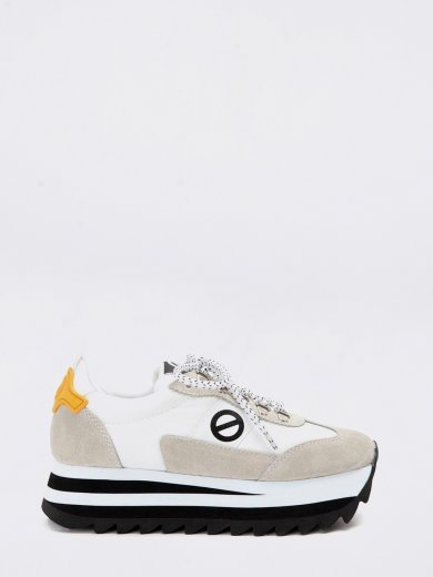 FLEX M RIPPLE SUEDE GUM WHITE SNEAKERS