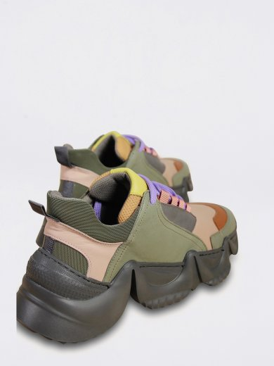 LOLLY SNEAKERS MULTI ARMY GREEN