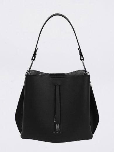 CLÉO BLACK VEGAN CROSSBODY BAG