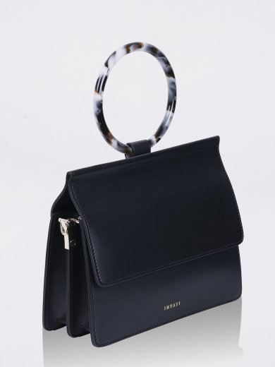 COCO BLACK VEGAN TOP HANDLE BAG