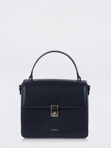 ELODY BLACK VEGAN TOP HANDLE BAG