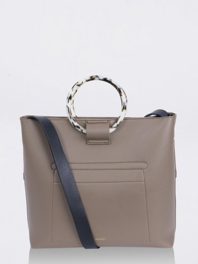 HARRIET KHAKI VEGAN TOTE BAG