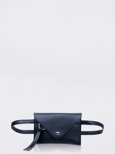 IDA BLACK VEGAN BELT BAG