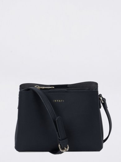 LEA BLACK VEGAN CROSSBODY BAG