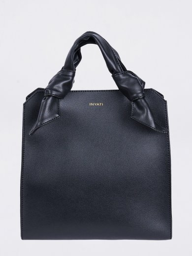 MEGAN BLACK VEGAN TOTE BAG