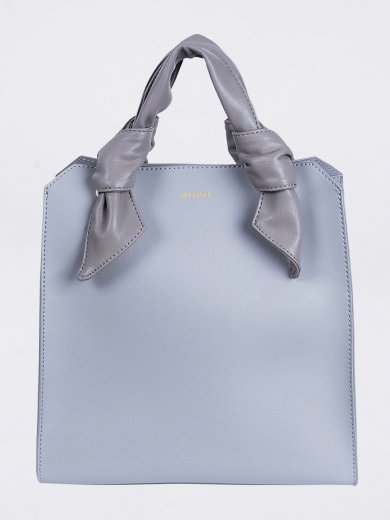 MEGAN LIGHT GREY VEGAN TOTE BAG