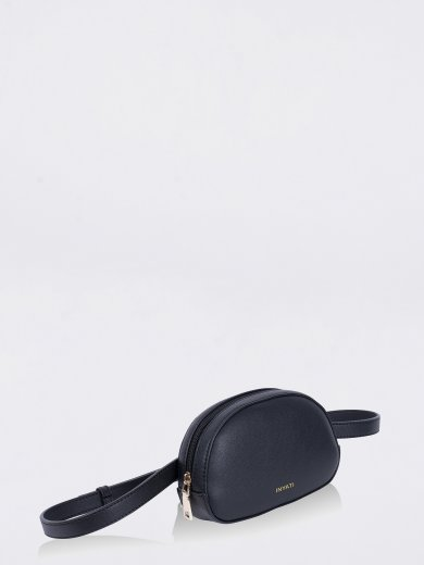MILA BLACK VEGAN HIP BAG