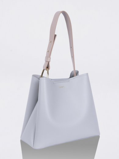 JANE LIGHT GREY VEGAN TOTE BAG