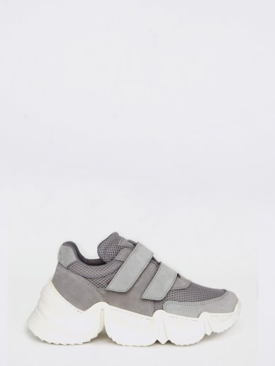 SPEED LIGHT GREY CHUNKY SNEAKERS