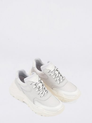 SPRINT MESH WHITE - LIGHT GREY  CHUNKY SNEAKERS