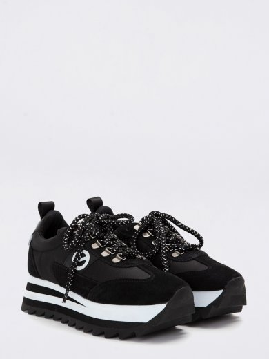 FLEX M RIPPLE SUEDE BLACK SNEAKERS