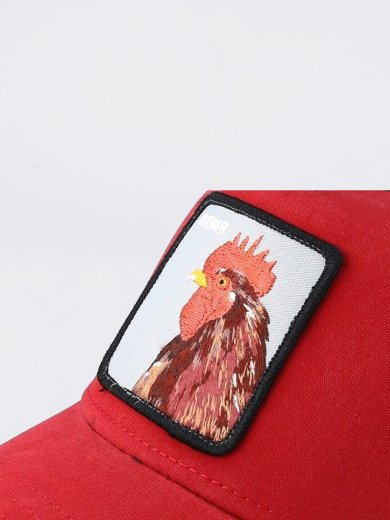 PLUCKER RED ANIMAL FARM HAT