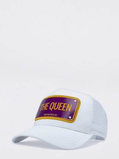 THE QUEEN WHITE UNISEX CAP