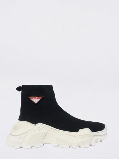 SOCK BLACK MID SNEAKERS