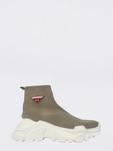 SOCK BEIGE MID SNEAKERS