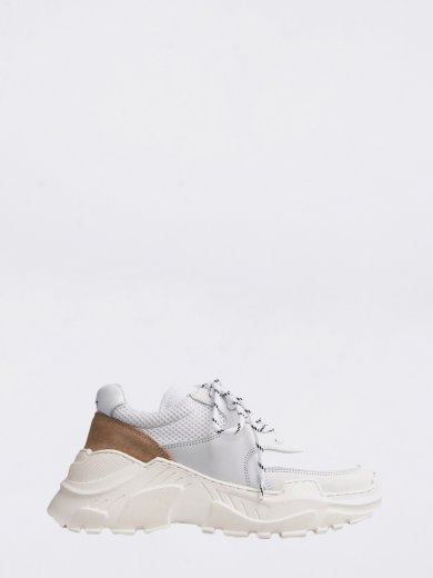 SPRINT MESH WHITE CHUNKY SNEAKERS