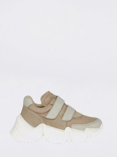 SPEED BEIGE CHUNKY SNEAKERS