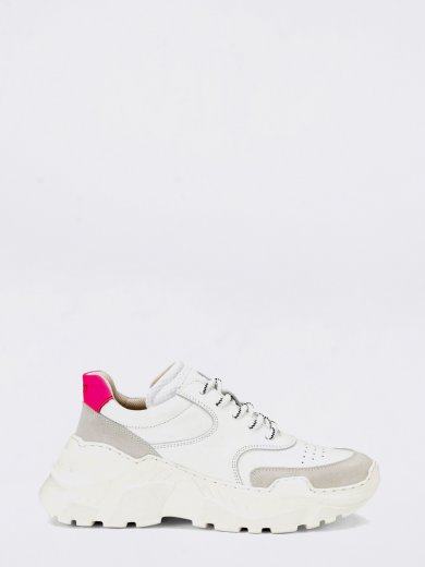 SPRINT LEATHER WHITE CHUNKY SNEAKERS
